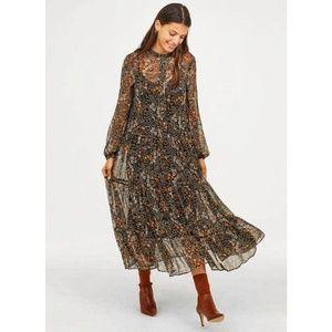 NEW H&M ankle-length chiffon dress